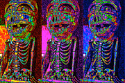 Humour Prints - Marti Gras Carnival Death Skeleton Three 20130129 Print by Wingsdomain Art and Photography