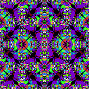 Gra Prints - Marti Gras Carnival Jester Abstract 20130129v4 Print by Wingsdomain Art and Photography