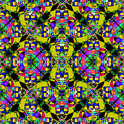 Gra Prints - Marti Gras Carnival Jester Abstract 20130129v8 Print by Wingsdomain Art and Photography