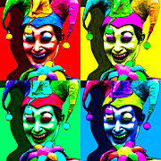 Gra Digital Art - Marti Gras Carnival Jester Four 20130129 by Wingsdomain Art and Photography