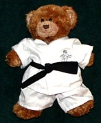 Judo Posters - Martial Arts Karate Teddy Bear Poster by Gail Matthews