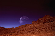 Nevada Digital Art - Martian Moon by Donna Blackhall