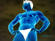Stock Photography Male Model Digital Art Posters - Martian Muscle 2012 Poster by Jake Hartz