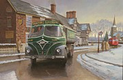 Old Village Paintings - Martin C. Cullimore tipper. by Mike  Jeffries