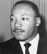 King James Photo Prints - Martin Luther King Jr 1929-68 American black civil rights campaigner Print by Anonymous