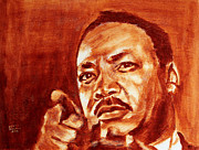 Martin Luther King Jr. Paintings - Martin Luther King Jr by Derek Russell