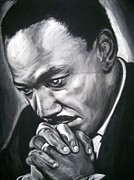 Civil Rights Pastels Prints - Martin Luther King Jr Print by Martha Suhocke