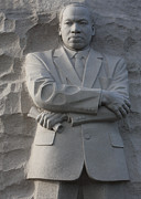 Martin Luther King Jr Prints - Martin Luther King Jr Memorial Front Detail Print by John Cardamone