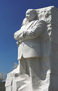 Photography Digital Art Prints - Martin Luther King Jr. Memorial Print by Mike McGlothlen