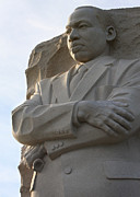 Martin Luther King Jr Prints - Martin Luther King Jr Memorial Side Detail Print by John Cardamone