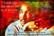 Enemies Digital Art Prints - Martin Luther King Jr Print by Michelle Greene Wheeler