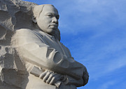 Martin Luther King Jr Prints - Martin Luther King Jr Monument Detail Print by John Cardamone