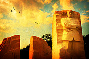 Martin Luther King Jr Digital Art Prints - Martin Luther King Memorial Print by Gary Cain