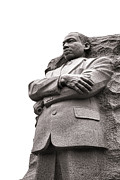 Sculpted Framed Prints - Martin Luther King Memorial Statue Framed Print by Olivier Le Queinec