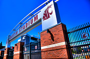 Stadiums Framed Prints - Martin Stadium - Pullman Washington Framed Print by David Patterson