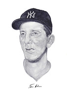 Yankees Painting Prints - Martin Print by Tamir Barkan
