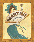 Olive Green Painting Prints - Martini dry Print by Debbie DeWitt