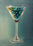 Martini Wall Art Paintings - Martini Glass by Sarah Parks