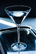 Silver Tray Framed Prints - Martini Framed Print by HD Connelly