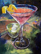 Las Vegas Artist Painting Framed Prints - Martini Framed Print by Michael Creese