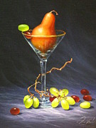 Wine Reflection Art Painting Prints - Martini Print by Sean Taber