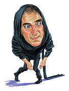 Caricatures Paintings - Marty Feldman as Igor by Art
