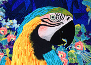 Parrot Tapestries - Textiles Metal Prints - Marty Macaw Metal Print by Jean Baardsen