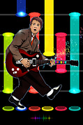 Marty Mcfly Plays Guitar Hero Print by Akyanyme