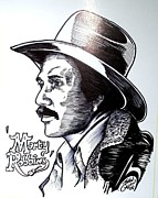 Country And Western Drawings - Marty Robbins by John Cullen