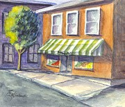 Produce Drawings Prints - Martys Market Print by Carol Wisniewski