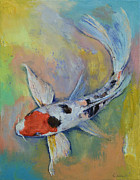 Coy Fish Prints - Maruten Butterfly Koi Print by Michael Creese
