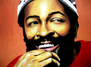 Rnb Prints - Marvin Gaye Print by Antony Bagley