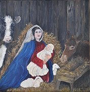 Mary And Baby Jesus Print by Linda Clark