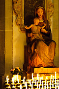 Statue Portrait Prints - Mary And Baby Jesus Print by Syed Aqueel