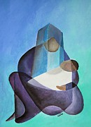 Theotokos Paintings - Mary and Messiah by Tracey Harrington-Simpson