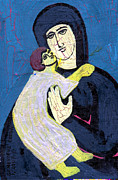 Mary And The Baby Jesus Print by Genevieve Esson