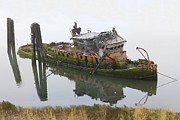 Shipwreck Prints - Mary D Hume Print by Debra and Dave Vanderlaan