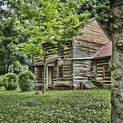 Log Cabins Prints - Mary Dells House Print by Heather Applegate