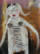 Outsider Art Paintings - Mary Girl by Beatrice M