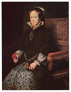 Queen Mary Paintings - Mary I Queen of England by Antonis Mor