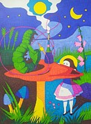 Hookah Painting Posters - Mary in Wonderland  Poster by Tae Jun Jung