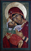 Catholic Art Painting Originals - Mary Kadiotissa by Mary jane Miller