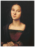 Portrait Of Woman Framed Prints - Mary Magdalen Framed Print by Pietro Perugino