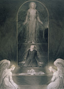 Mary Magdalene At The Sepulchre Print by William Blake