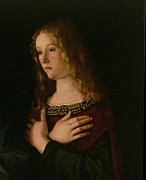 Jewellery Framed Prints - Mary Magdalene Framed Print by Giovanni Bellini