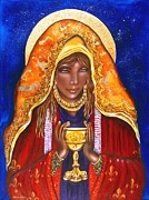 Red Robe Painting Posters - Mary Magdalene Poster by Ilene Satala