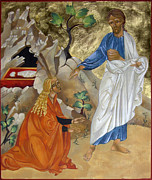 Egg Tempera Digital Art Prints - Mary Magdalene Print by Mary Jane Miller