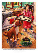 Doggies Paintings - Mary Mary Quite On Great Meals by David Condry