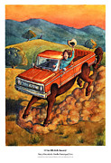 Cowgirls Paintings - Mary Mary Quite On the Naming of Cars by David Condry