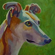 Acrylic Dog Paintings - Mary by Pam Bledsoe